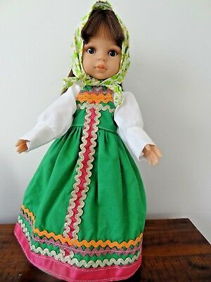 "Collectible Paola Reina Marina Green 13"" Doll with clothes"