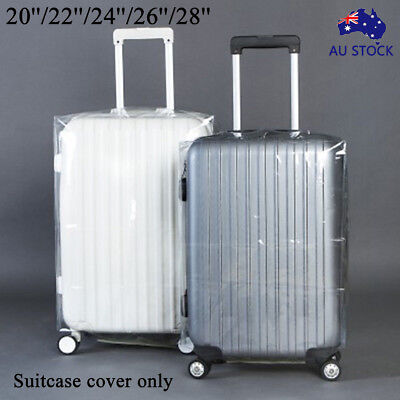 AU PVC Transparent Travel Luggage Protector Suitcase Cover Dustproof Waterproof