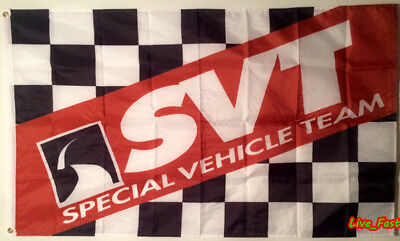 SVT FORD RACING MUSTANG COBRA SPECIAL VEHICLE TEAM FLAG BANNER advertising sign