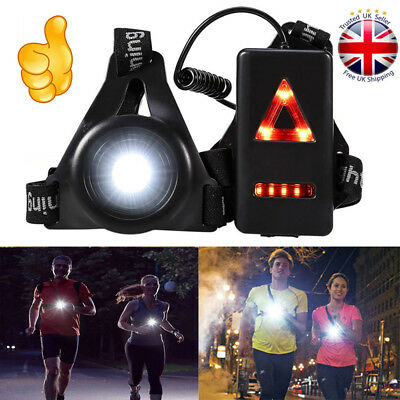Night LED Outdoor Running Jogging Chest Lamp Warning Torch Safety Flash Light UK