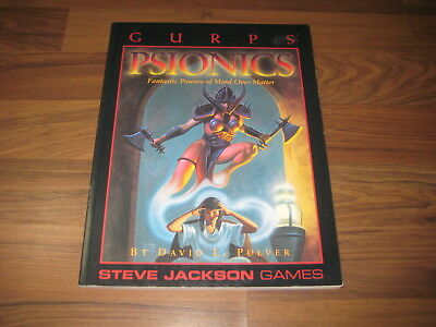 GURPS 3rd Edition Psionics Fantastic Powers Of Mind Over Matter 1995 SJG6040
