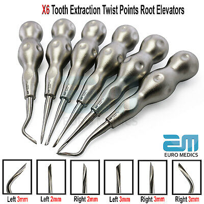 Dental Surgical Oral Forceps Twisted Point Tooth Extracting Luxating Elevators