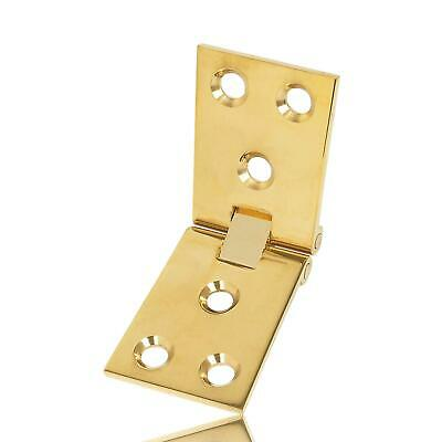 Pair of COUNTER FLAP HINGES  POLISHED BRASS102 x 38MM-DOORS-SHEDS-HG6686 - NEW