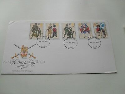 Gb Qe11 First Day Cover 1983 The British Army