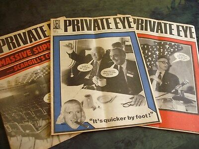 THREE Private Eye magazines