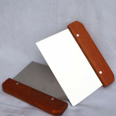 DIY Wooden Handle Soap Cutter Straight Stainless Wax Dough Slicer Cake Tidily