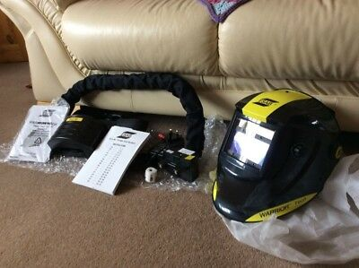 ESAB Warrior Tech Air Fed Welding Mask Complete, Never Used