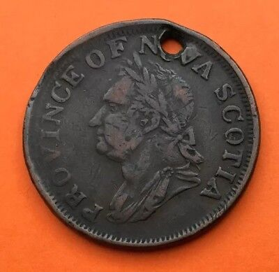 1832 CANADA ONE PENNY TOKEN. PROVINCE OF NOVA SCOTIA. NICE CONDITION. Ref.49