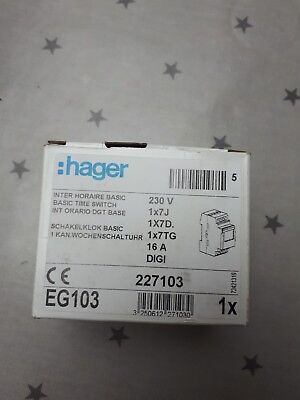 Hager EG103 digital timer switch and key