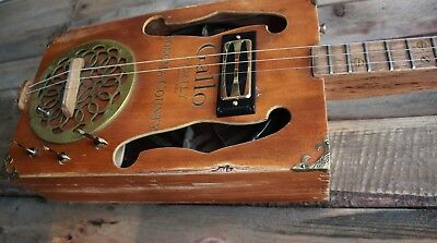 Treadstone Guitars Rev. Gallo 3 string fretted CBG style with built-in REVERB!!