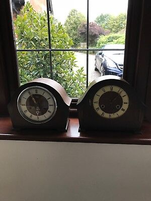 VINTAGE SMITHS WESTMINSTER STRIKING MANTLE CLOCK and ANDREW mantle clock