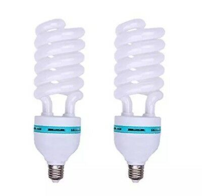 2x Photography Daylight White E27 Lighting Lamp Bulbs 150W 5500k a Pair