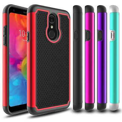 For LG Q7 /Q7 Plus/ Alpha Phone Case Hybrid Shockproof Hard Rugged Rubber Cover