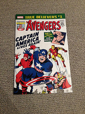 TRUE BELIEVERS - The AVENGERS # 4 NEW Reprints 1st CAPTAIN AMERICA