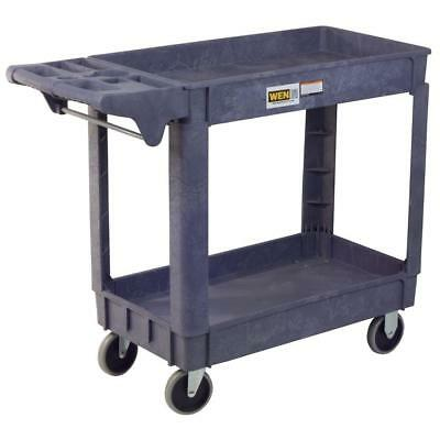 WEN Utility Service Cart Storage 2-Shelves Rolling Wheels 500 Lbs. Capacity