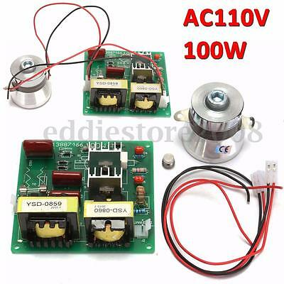 AC 110V 100W 40KHz Ultrasonic Cleaner Power Driver Board + 60W 40K Transducer