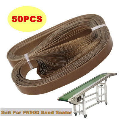 50pcs Teflon Belt For FR900 Sealing Machine Band Film Bag Sealer Strip 750x15mm