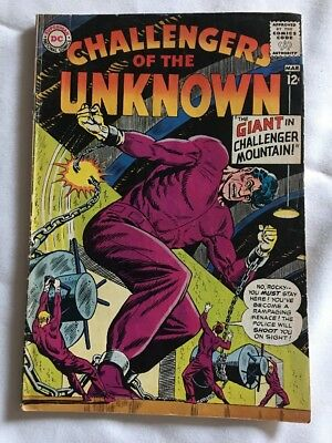Challengers Of The Unknown #36 The Giant In Challenger Mountain DC Comics 1964