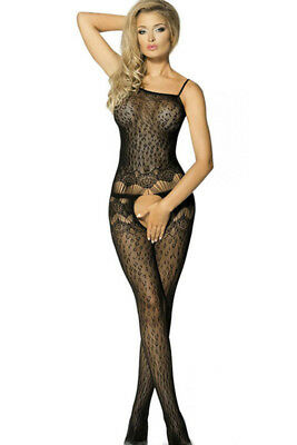 Catsuit bodystocking donna sexy nero sexyshop intimo lingerie completino TU
