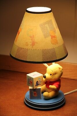 Winnie the Pooh Baby Nursery ABC 123 Block Lamp and Shade
