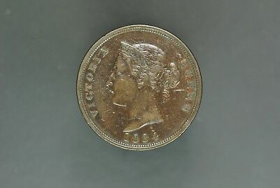 1884 CYPRUS ONE PIASTRE, QUEEN VICTORIA, aXF VERY RARE, KEY DATE