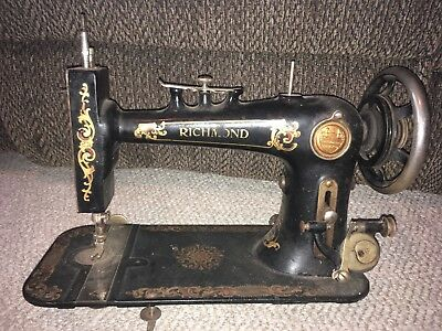 Antique Richmond Model Treadle Sewing Machine Charles Williams Store