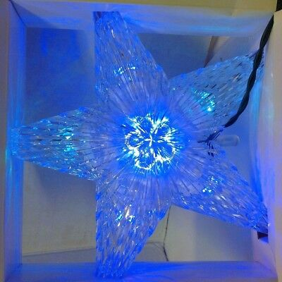 CHRISTMAS TREE TOPPER LIGHT STAR UP COLOR CHANGING LED NIB Multi Color