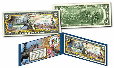 DELAWARE Genuine Legal Tender $2 Bill USA Honoring America's 50 States