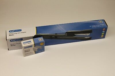 Rapesco Long Arm Metal Marlin Stapler With 5000 26/6 Staples