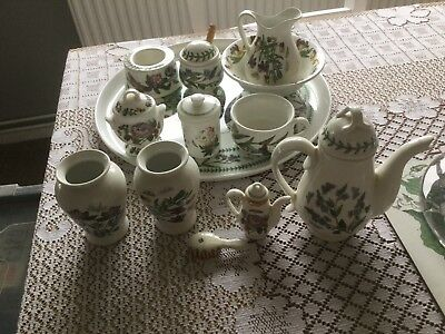 A Tray Of Portmeirion Novelty Pieces Including Tray