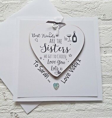 Personalised 21st 30th 40th 50th Birthday Card - Best Friends - Gift Card in one