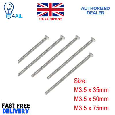 Long M3.5 Screws For Electrical Light Switch,Plug Socket,Front Plates,Chrome