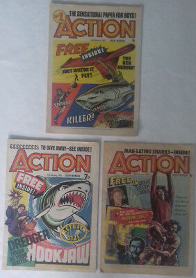 Action comics. First 3 issues 14th, 21st and 28th February 1976