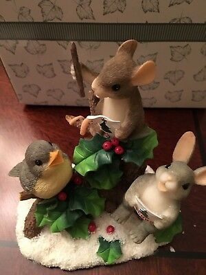 charming tails mice figurines