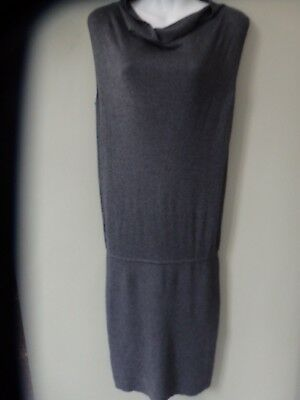 Grey cashmere and silk fine knitted dress by Max Mara