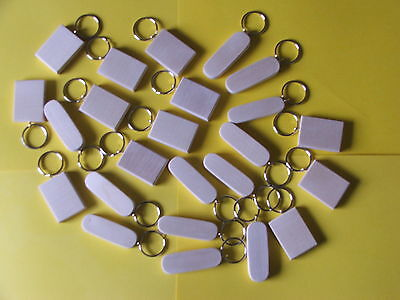 Keyring Sycamore Blanks-Pyrography 12 in Pack £ 6-90 incl post painting ENGRAVING