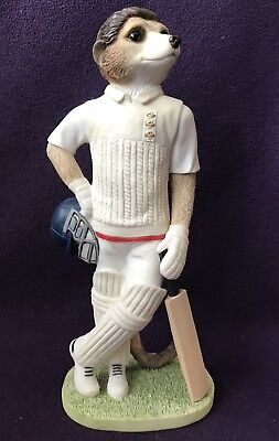 "COUNTRY ARTISTS MAGNIFICENT MEERKATS CA04523 ""Waiting To Bat"" CRICKET PLAYER"
