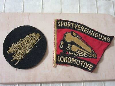 Lokomotive Aufnäher Patch Sportverein. Zug Original antiquarisch Toller Zustand