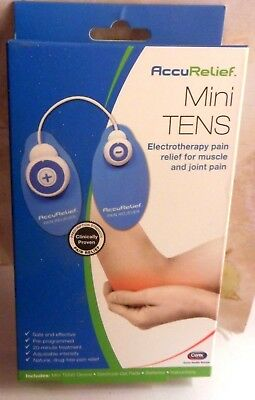 AccuRelief Mini Tens electrotherapy pain relief for muscle and joint pain.Sealed