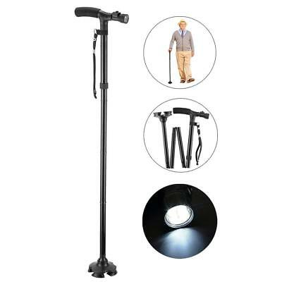 Walking Stick with Height Cane & Light Folding Free StandinG Foldable Adjustable