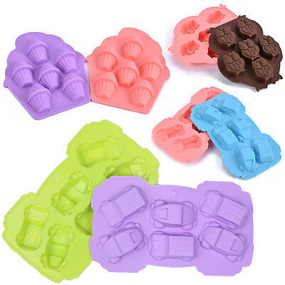 New Silicone Owl Car Palm Chocolate Cake Cookie Mould Baking Molds Ice Cu ussk