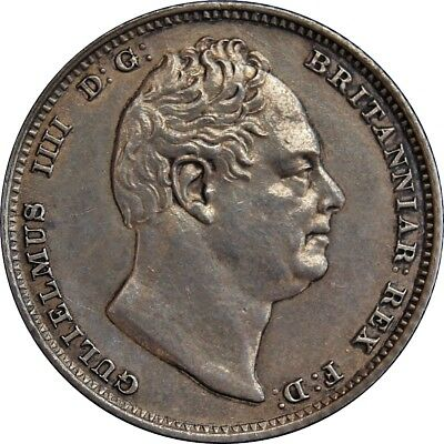 1831 William IV Sixpence. Uncirculated.