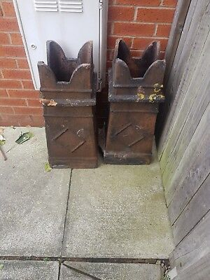 2 X Crown Chimney Pots