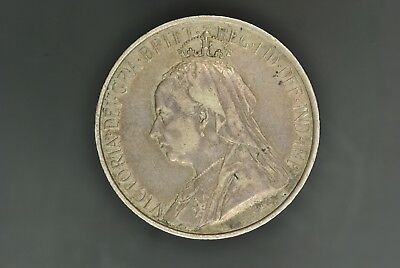 1901 CYPRUS SILVER 18 PIASTRES, QUEEN VICTORIA, aUNC, NICE TONING, VERY RARE