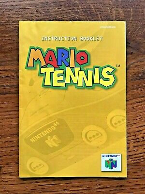 Mario Tennis N64 Nintendo 64 Instruction Manual Only