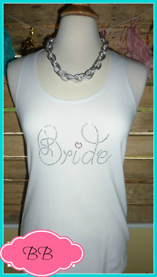 NEW size M misses bling bride tank top bachelorette tank top bride to be gift