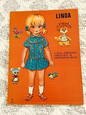 1970's A Doll Dressing Book LINDA  Paper Doll From ENGLAND printed in Belgium NM