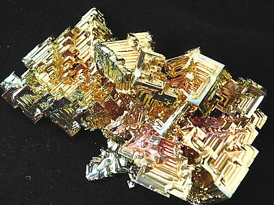 A Big! Gold Pink Blue and Gold AAA BISMUTH Crystal Made in Germany! 177gr e