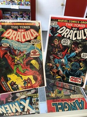 Tomb of Dracula #12 2nd app of Blade; #13 Origin of Blade