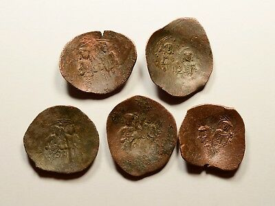 Lot Of 5 Ancient Byzantine Cup Coins - Nice Detail